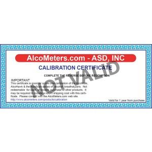 AlcoMate AccuCell AL9000 Breathalyzer Calibration Certificate