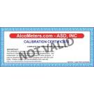 Breathalyzer Calibration Certificate