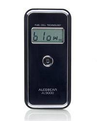 AlcoMate AccuCell AL9000 Breathalyzer back